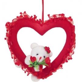 Dekorácia na Valentína srdiečko s macíkom