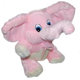 Ružový plyšový sloník pre zaľúbených