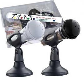 Soľnička a korenička mikrofón pre ženy