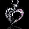 Náhrdeľník pre ženu z lásky - ružové srdiečka