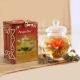 Deväť druhov kvitnúceho čaju v bambusovej krabičke