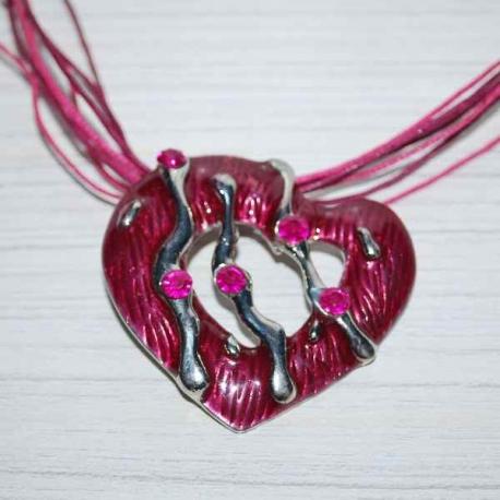 Srdiečkové náušnice s príveskom
