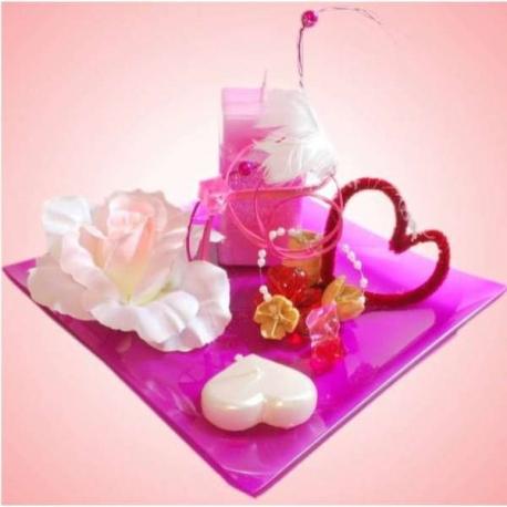 Valentínska dekorácia v ružovom