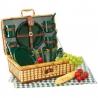 Bambusový piknikový kôš s riadom