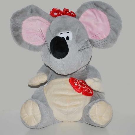 Valentínska myška so srdiečkami